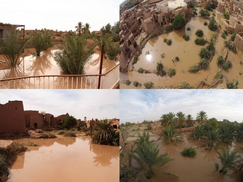 صورة القرية التراثية تتزين بمياه الأمطار