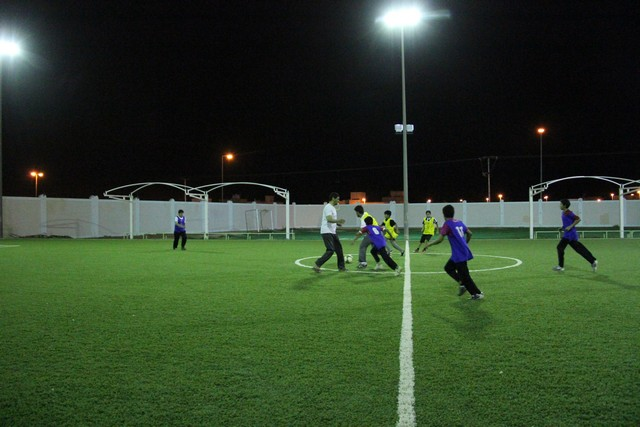 صورة انطلاق دوري القدم للمرحلة المتوسطة بملتقى التنمية الرمضاني