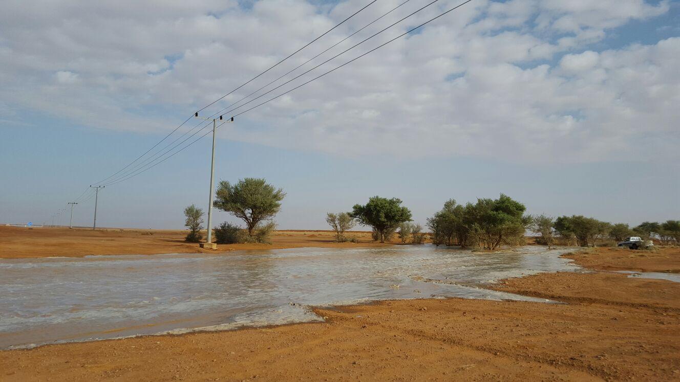 صورة أمطار الخير والبركة على أم حزم