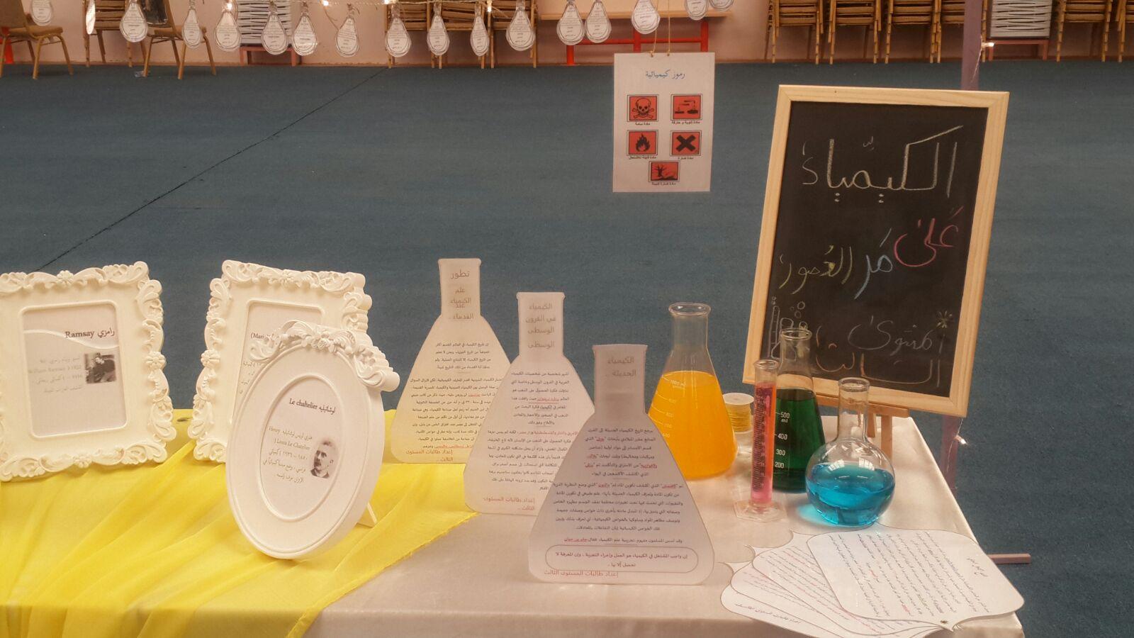 """صورة تدشين مشروع """" العلوم على مر العصور"""" في ثانوية أشيقر للبنات.."""