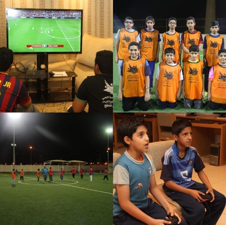 صورة انطلاقة منافسات كرة القدم والبلايستيشن بملتقى التنمية الرمضاني