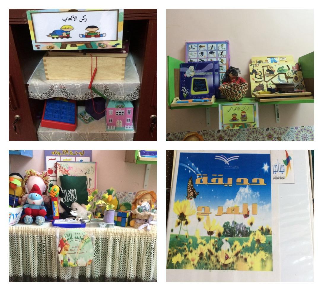 صورة افتتاح غرفة حديقة المرح في ابتدائية البنات بأشيقر