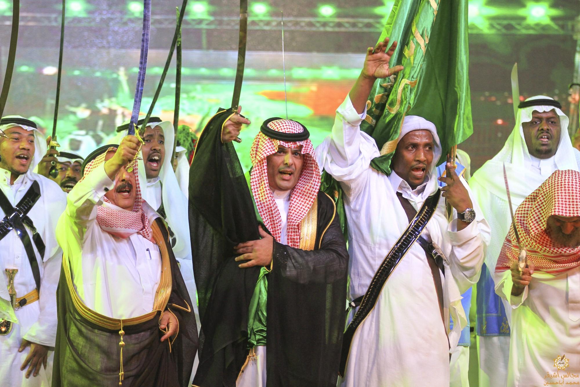صورة أشيقر تحتفل بعيد الفطر المبارك في صالة أشيقر الكبرى