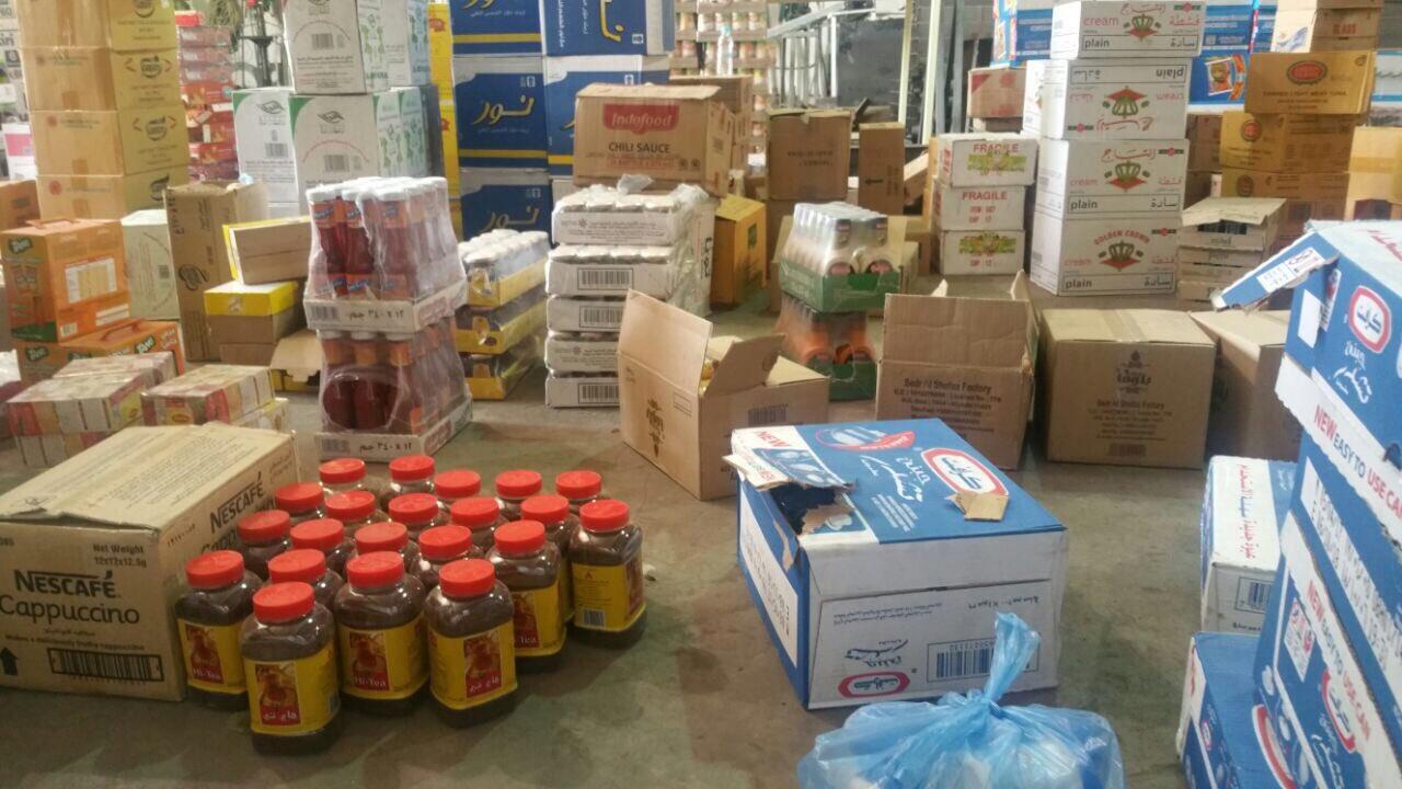 صورة بلدية أشيقر تضبط شاحنة مواد غذائية منتهية الصلاحية
