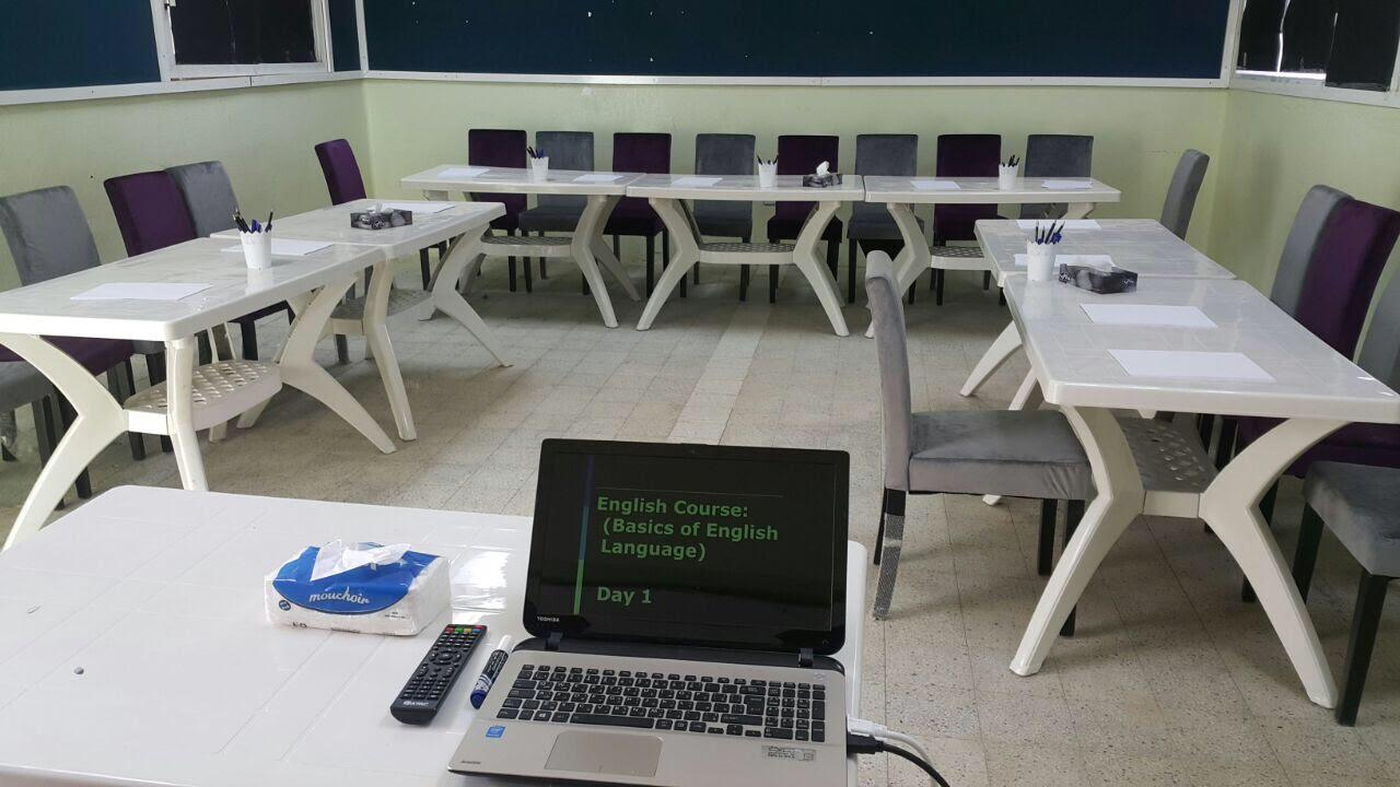 """صورة بدء دورة """" اساسيات اللغة الانجليزية"""" بـ مركز الحي المتعلم للنساء"""
