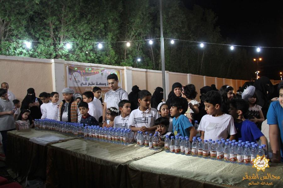 صورة ابتسامة وبهجة الأطفال في مهرجان الحلاوي بأشيقر