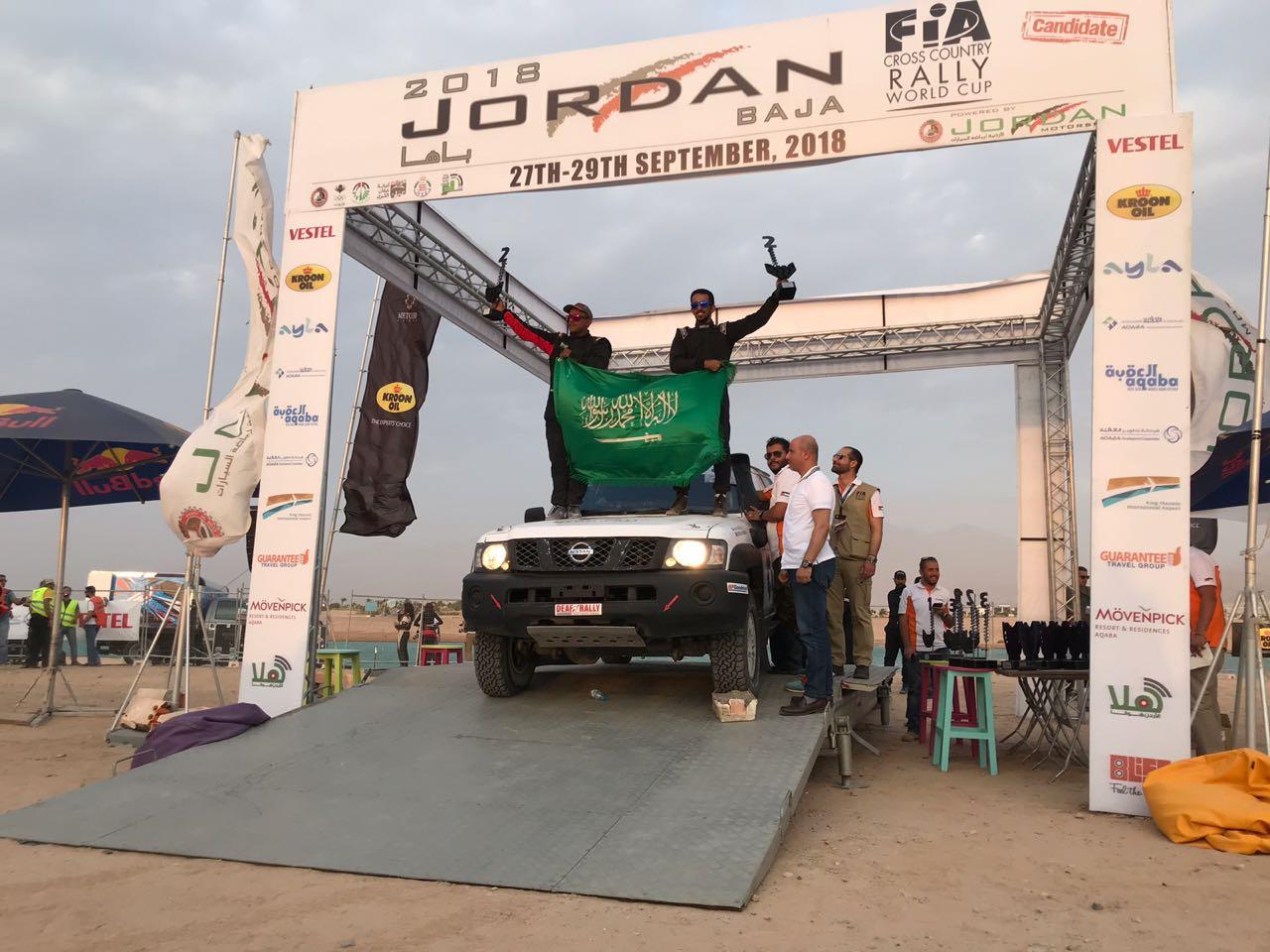 """صورة العبداللطيف بطل فئة """"T2"""" الخاصة بسيارات الإنتاج التجاري المُتسلسل برالي الأردن"""