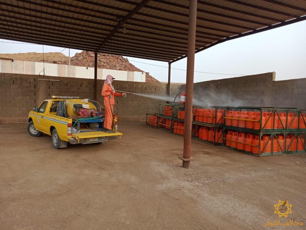 صورة بلدية أشيقر تواصل التعقيم والجولات الرقابية