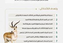 """صورة """"البيئة"""" تبدأ تطبيق اللائحة التنفيذية لصيد الكائنات الفطرية البرية في المملكة"""