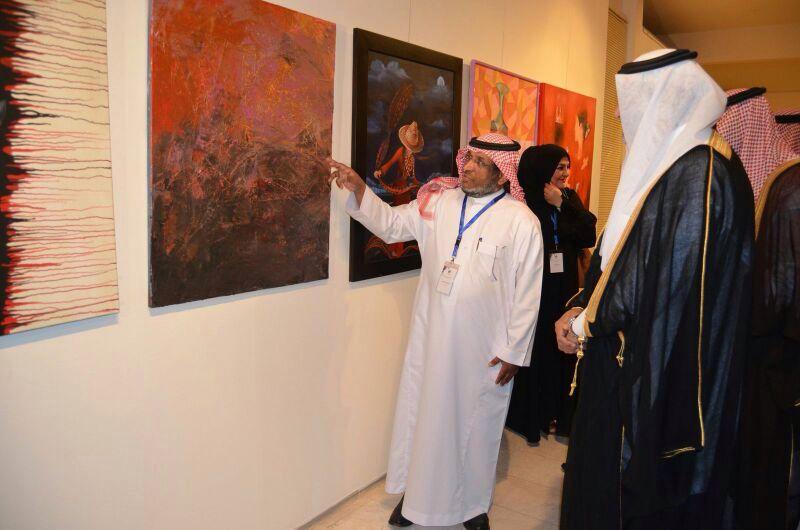 صورة مشاركة الفنان التشكيلي عثمان الخراشي في إبداع الرياض الثاني