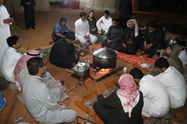 صورة نادي الحي بأشيقر يقيم كشته لأعضاءه